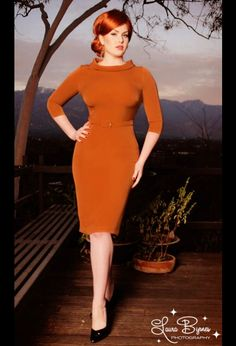 Another Joan Holloway dress, this time with no cleavage.
