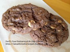 Addicted to Recipes: Devil's Food Butterscotch Chip Cookies