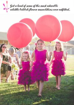 We LOVE the idea of #flowergirls walking with balloons down the aisle - perfect for outdoor weddings!