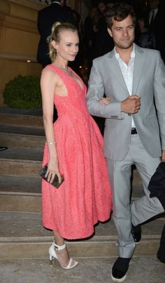 Can this couple get any cuter? Diane Kruger and Joshua Jackson in Cannes.