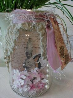 Altered Art Fairy Jar