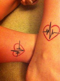 Matching Nurse Ankle Tattoos