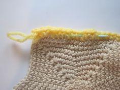 Finishing a crochet project