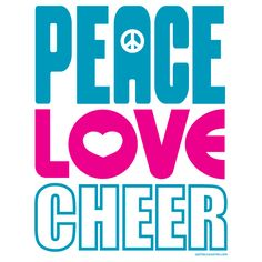 The T536 is a great way to express yourself! Check out our other peace, love and cheer design too.
