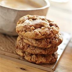 Mocha Swirl Peanut Butter Toffee Cookies from Pillsbury Baking®