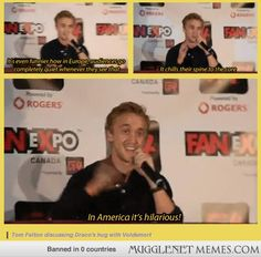 Tom discusses how Draco's hug with Voldemort is interpreted in different countries