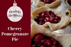 Cherry Pomegranate Mini Pies Recipe! {pull out these tasty little treats for the Holidays... or a special anytime dessert!} #pie #recipes