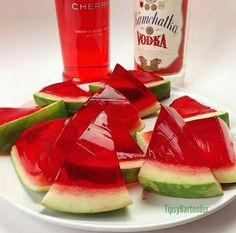Tipsy bartender jello shot, watermelon jello