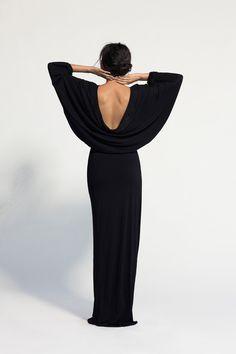gorgeous black dress.