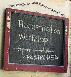 Procrastination workshop