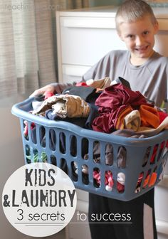 kids and laundry | 3 secrets to success | teachmama.com --> summer is a GREAT time to get kids into the laundry mode! if we can do it, ANYONE can do it!