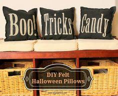 DIY Felt Halloween Pillows