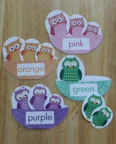 Owl color and size sort is great for toddlers, early intervention, preschool, pre-k, OT, Speech Therapy, and busy bags.