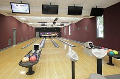 Not a bad home bowling alley! Home of NBA player Kenyon Martin in Arlington, TX for sale for 5M.