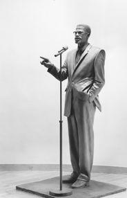 Statue of Malcolm X in the Audubon Ballroom, 3940 Broadway, NYC, www.RevWill.com