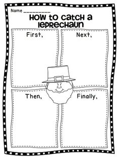 How To writing for March! How to catch a leprechaun