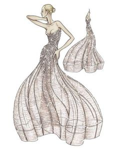evening dresses, red carpets, ateli versac, fashion designers, fashion drawings