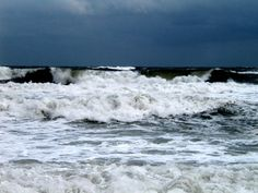 The Atlantic before a hurricane taken in Frisco, NC. RVing in the Outer Banks of North Carolina.