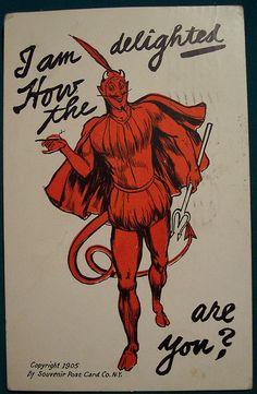 Vintage Devil Postcard | Flickr - Photo Sharing!