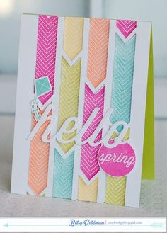Hello Spring Card by Betsy Veldman for Papertrey Ink (March 2014)