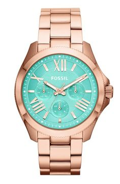#mint faced rose gold watch http://rstyle.me/n/nm2xrr9te