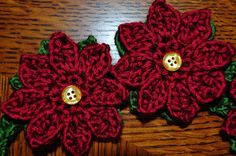 crochet poinsettia pattern - finished product is a headband but I just want to make the flowers!