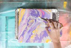 Make colorful marble