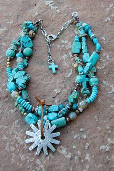 Chunky Cowgirl Jewelry  Western Necklace by CrossCanyonCowgirl, @Michelle Flynn Flynn McCurrach @Akemi Blanchard Financial #atbfashionroundup