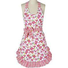 sew, girli apron, style, dee design, kay dee, aprons, design pink, pink floral, floral apron