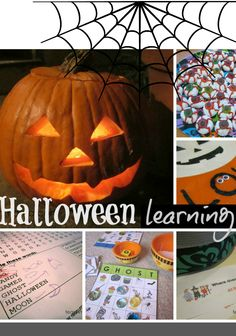 halloween learning ideas -- silly and scary literacy, math, and science fun with kids #halloween