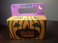 Decorate your donation box! Trick-or-Treat for UNICEF's Create a Character contest.