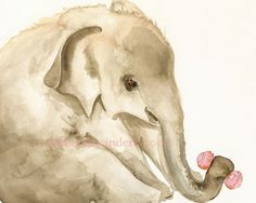 Elly Archival print baby elephant nursery by amberalexander, $20.00