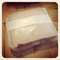 You might be old if you remember going to school with a metal lunchbox and a sandwich that your mom wrapped in wax paper like this.