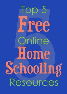 Top 5 Free Online Homeschooling Resources by Deb Bell via @Matt Nickles Nickles Valk Chuah Happy Housewife