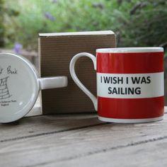 I Wish I Was Sailing Hoop Mug