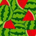 Watermelon Print, Slices and Whole Watermelons