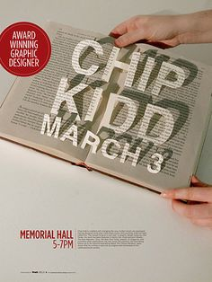 Chip Kidd event poster