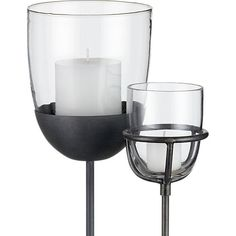 Vallejo Candle Stakes | Crate and Barrel Outdoors | Pinterest