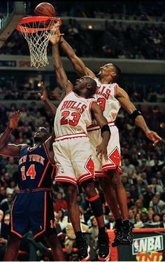 Scottie And Mike Get After It, '96 East Semis.
