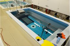 Complete a full triathlon in this Endless Pool setup, complete with aqua bike!  http://www.endlesspools.com/