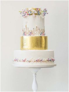 Whimsical Tiny Meadow Flowers Cake