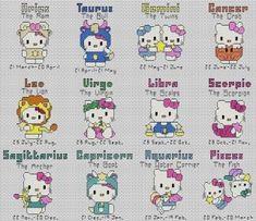 Free Hello Kitty Cross Stitch Patterns | hello kitty cross stitch charts more options cross stitch time