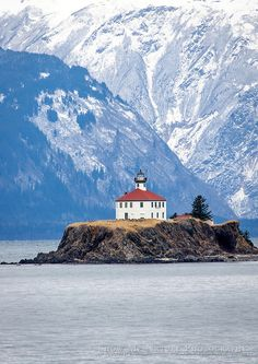 Eldred Rock Lighthouse, Inside Passage between Juneau and Haines, Alaska  | James A. Braswell