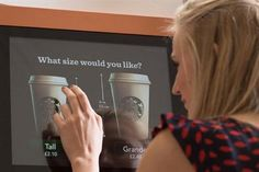 Starbucks in the UK is reimagining the coffee machine.  On The Go machines  will make coffee drinks in less than a minute and offer more than 200 different drinks, while offering a touchscreen game while you wait.