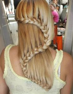 french braids, snake, swirl, long hair, art, longer hair, daughters, hairstyl, waterfall braids