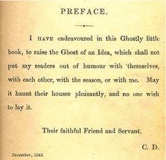 Wonderful Preface.  Charles Dickens - A Christmas Carol