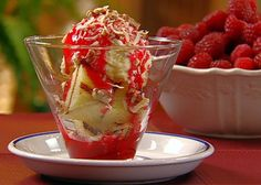 Grilled Pound Cake Sundaes with Raspberry Topping Recipe