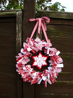 How to make this rag wreath