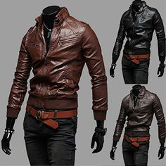 Trendy Men Slim Fit Fashion Leather Jacket | Sneak Outfitters