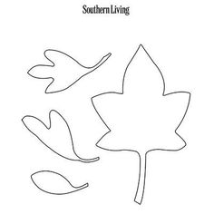 Pumpkin Carving Template: Falling Leaves | SouthernLiving.com